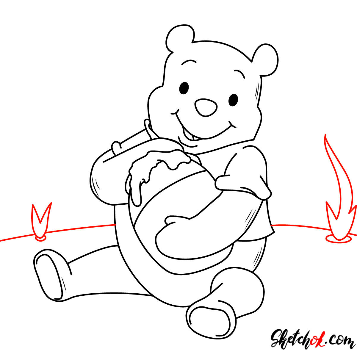 This is a photo of Nifty Drawing Winnie The Pooh