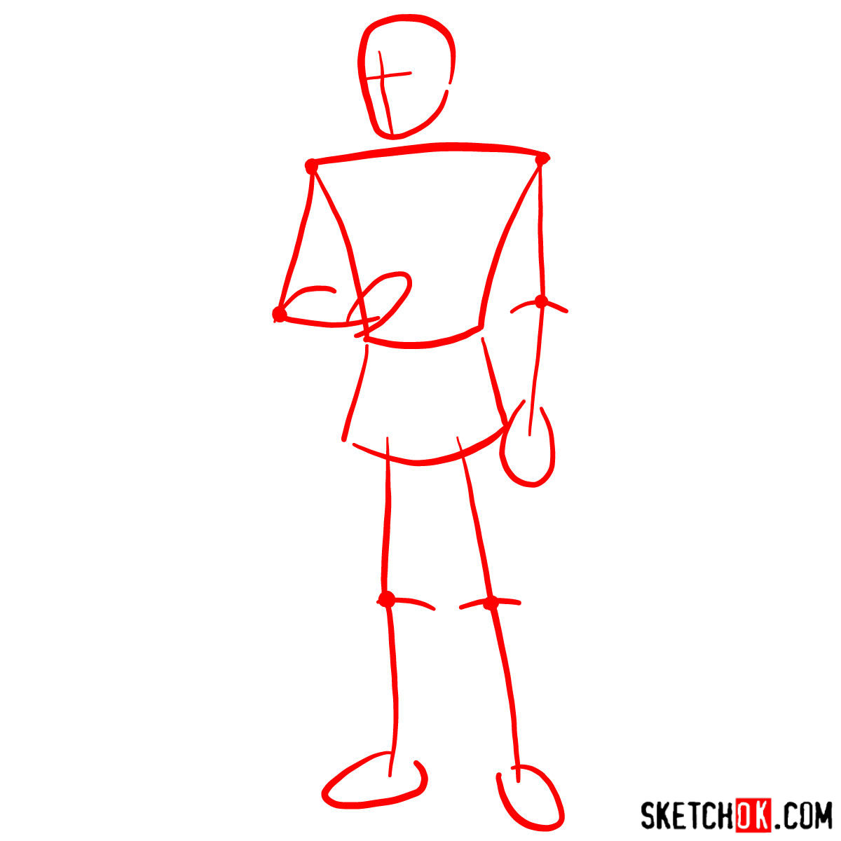 How to draw Prince Charming - step 01