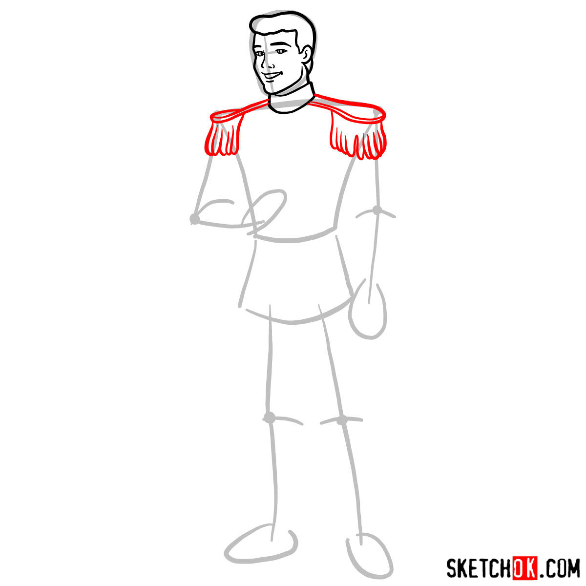 How to draw Prince Charming - step 05