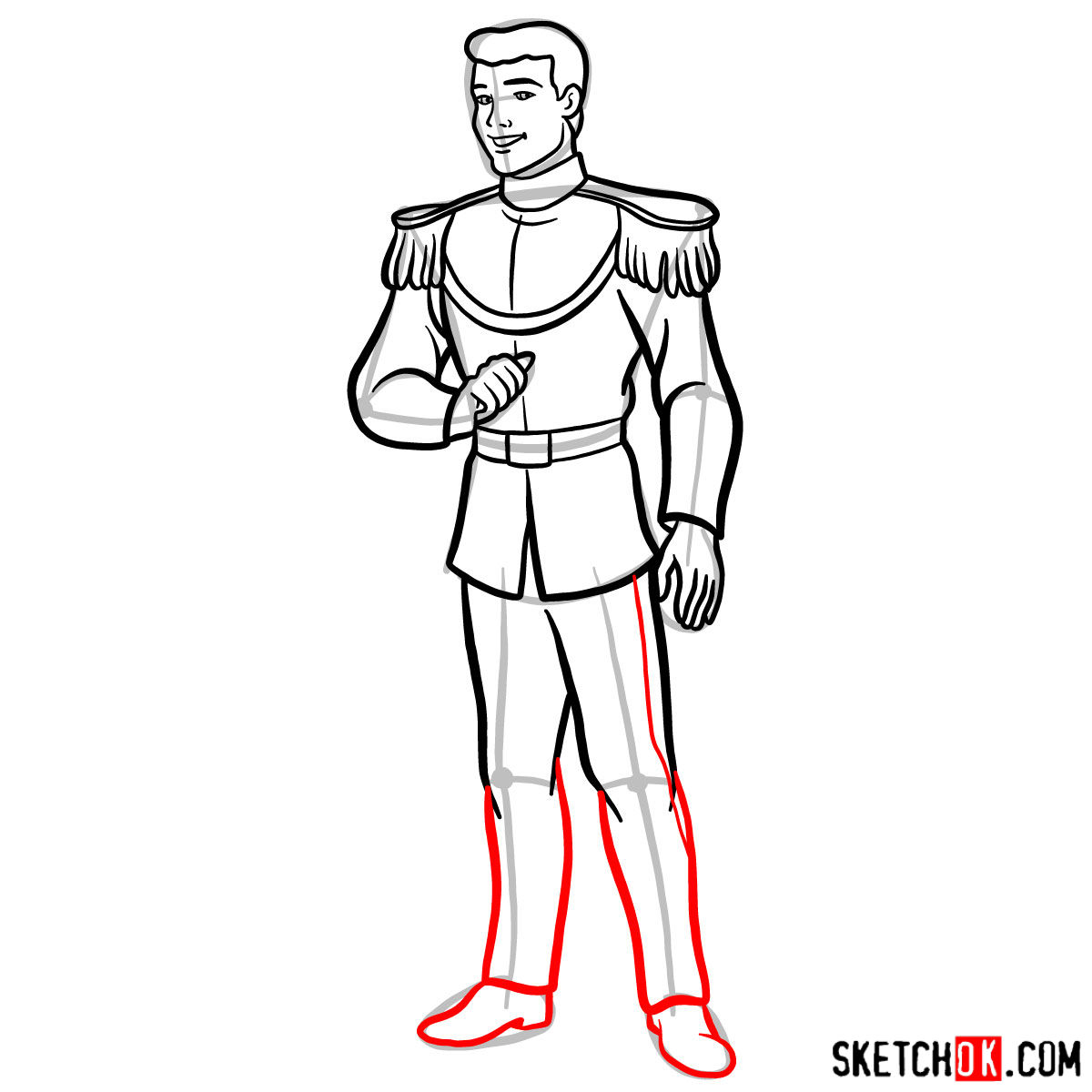 How to draw Prince Charming - step 11