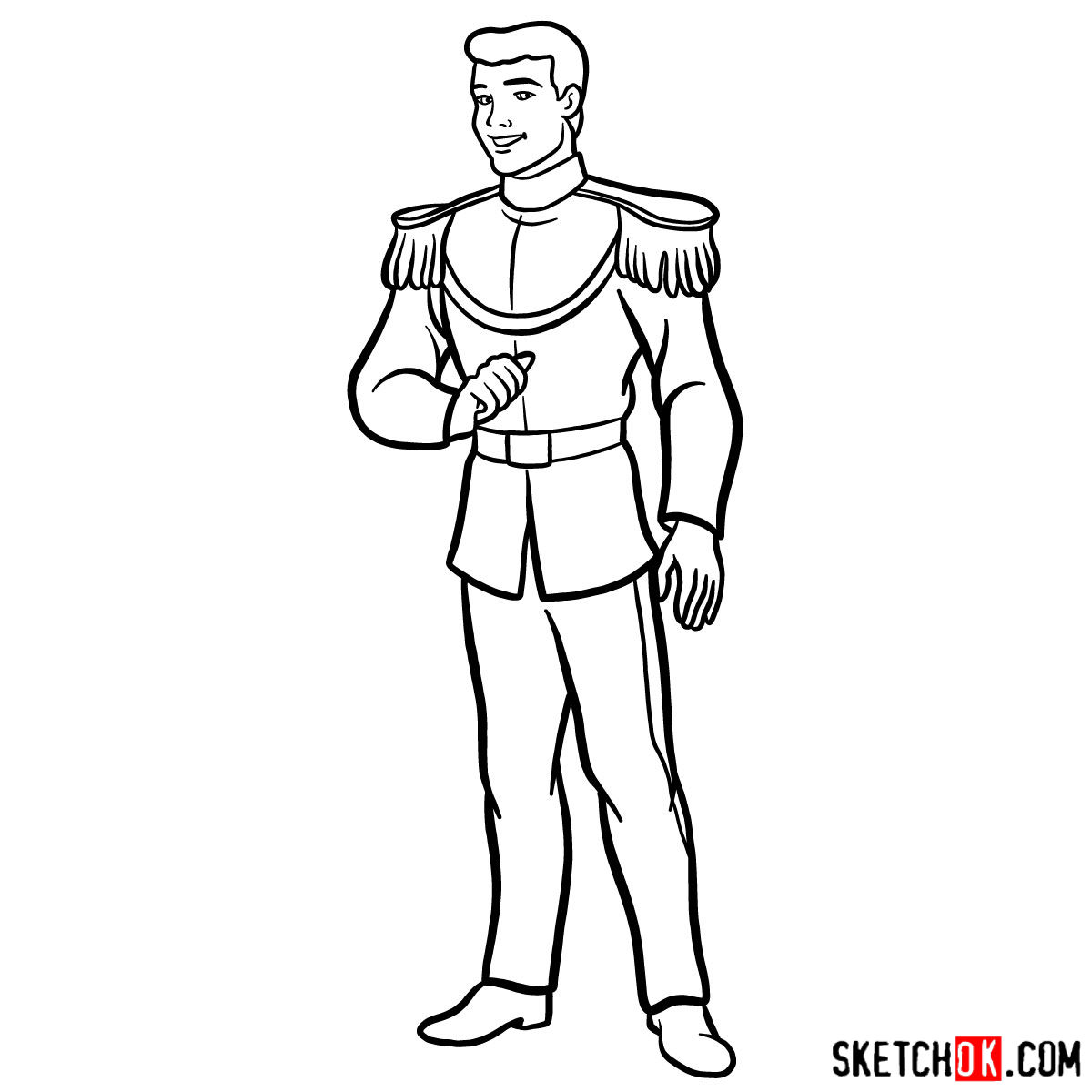 How to draw Prince Charming - step 12
