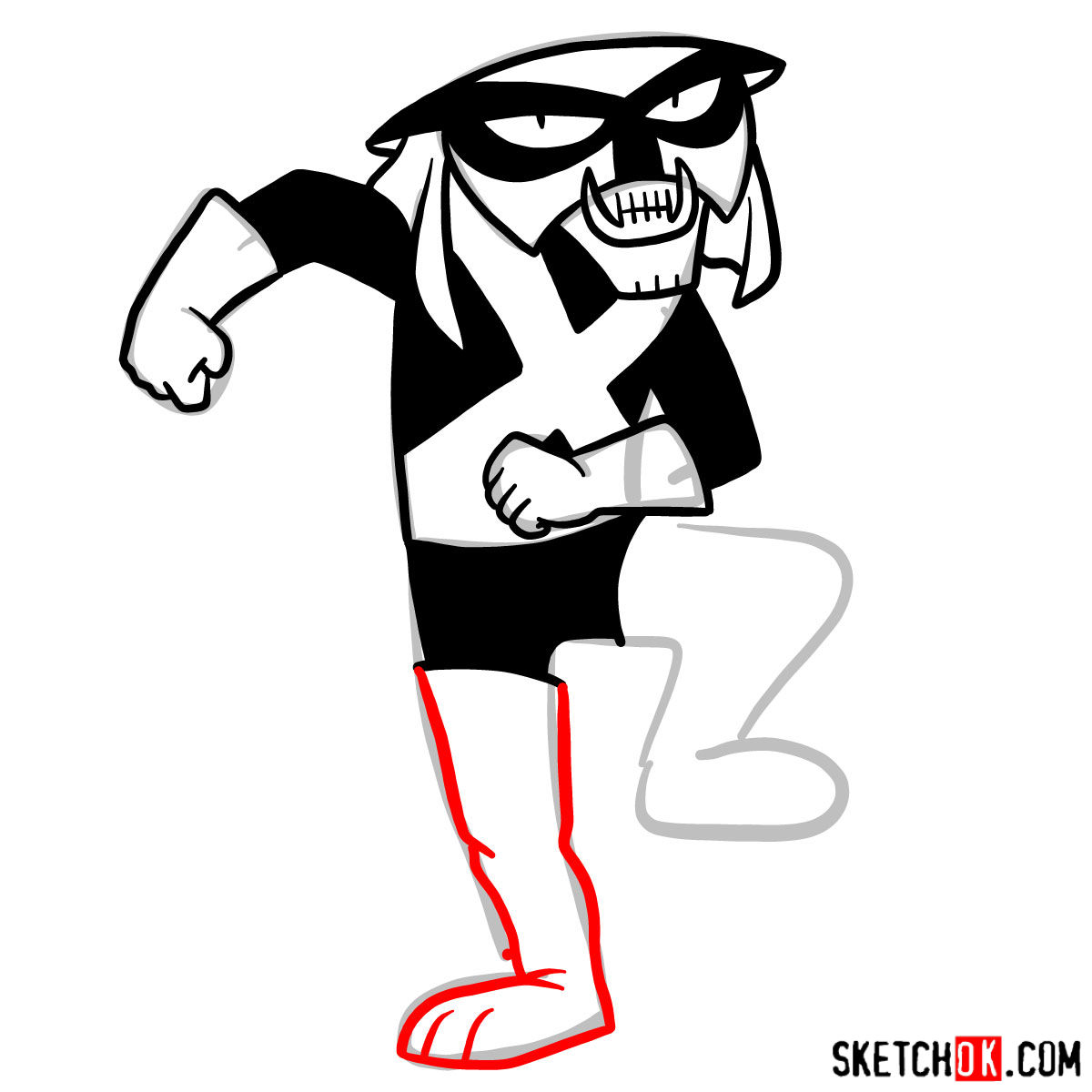 How to draw Brak - step 09