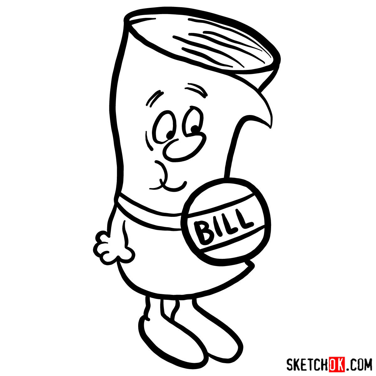 How to draw Bill from School House Rock - step 08