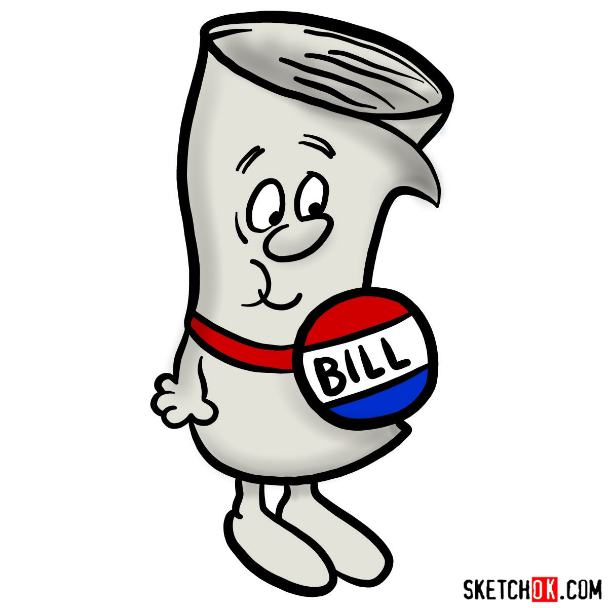 How to draw Bill from School House Rock - coloring