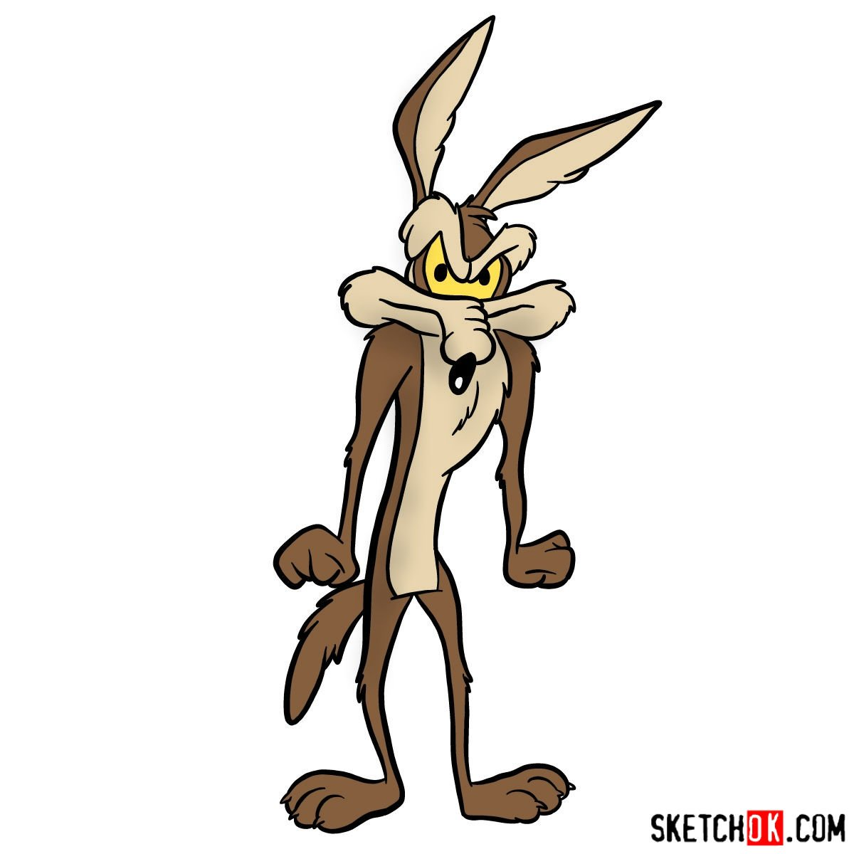 How to draw Wile E. Coyote