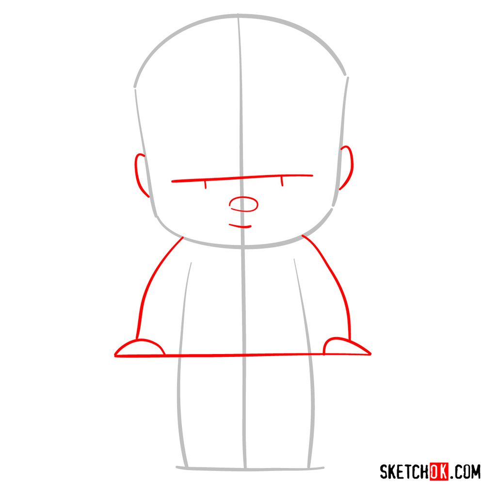 How to draw The Boss Baby - step 02