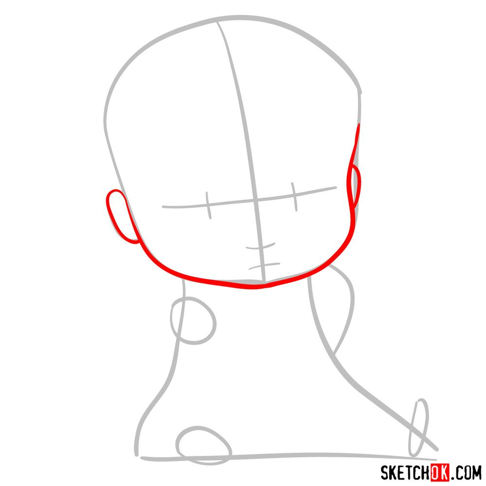 How to draw the Boss Baby in a formal suit - step 03