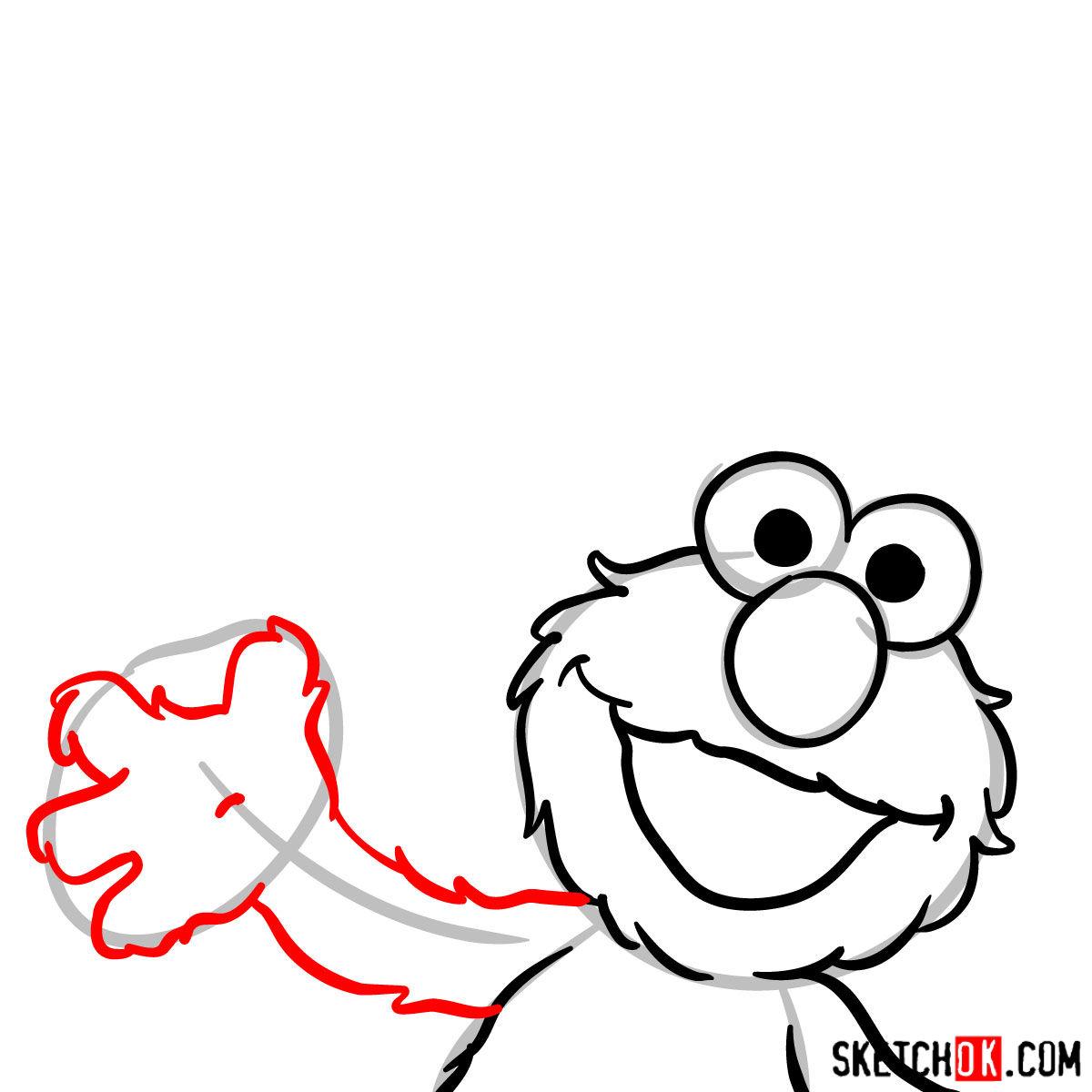 How to draw Elmo -  step 06