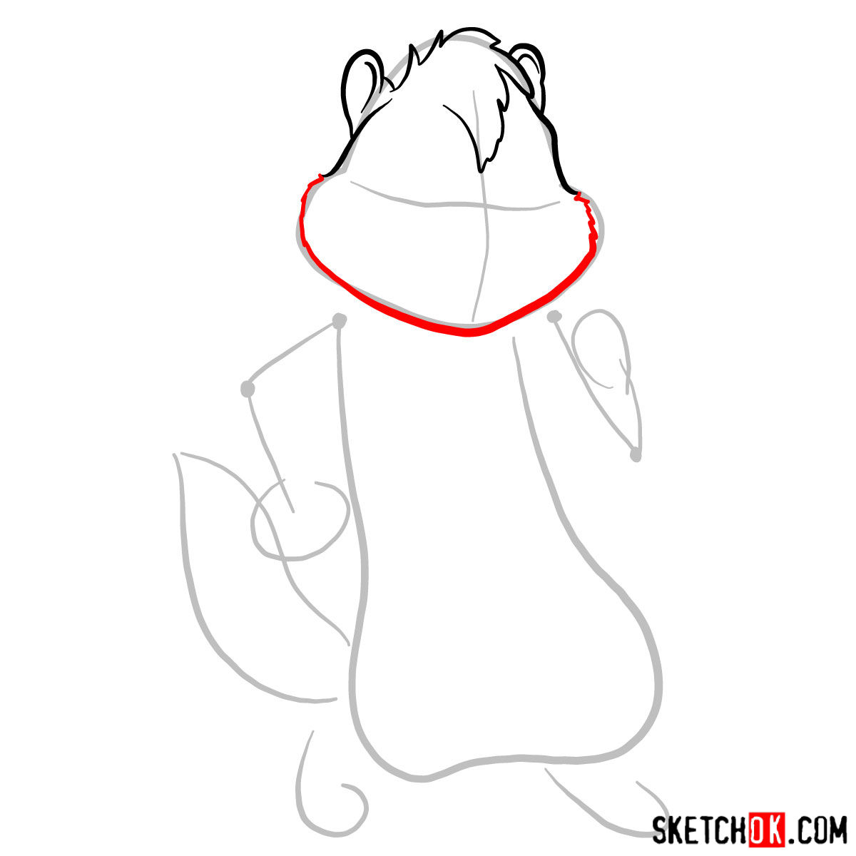 How to draw Alvin from Alvin and the Chipmunks - step 03