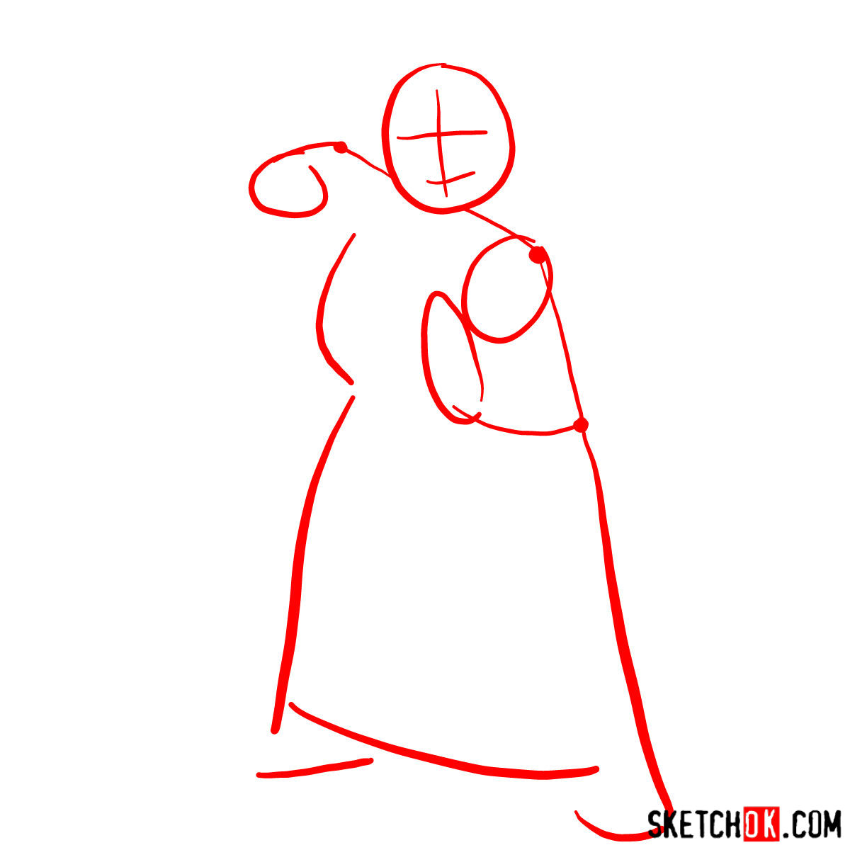 How to draw Princess Fiona - step 01