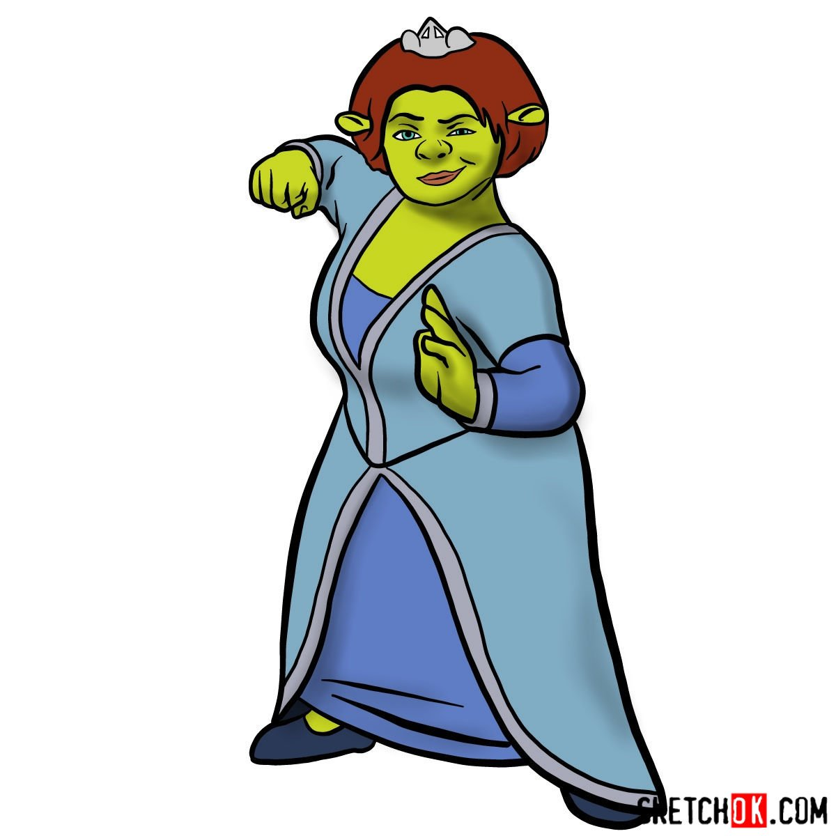 How to draw Princess Fiona