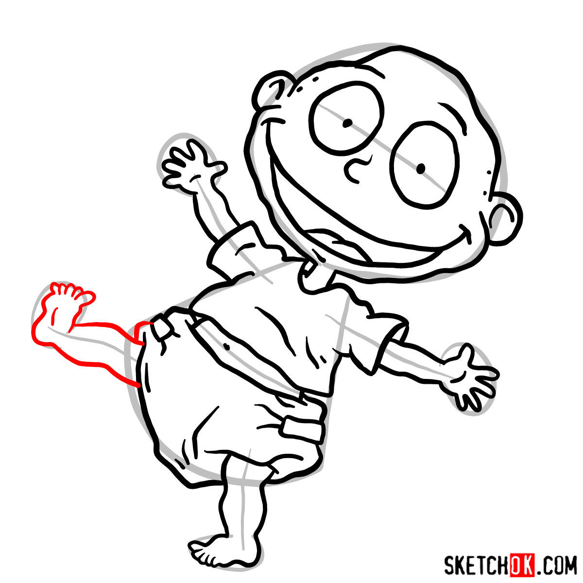 How to draw Tommy Pickles - step 11