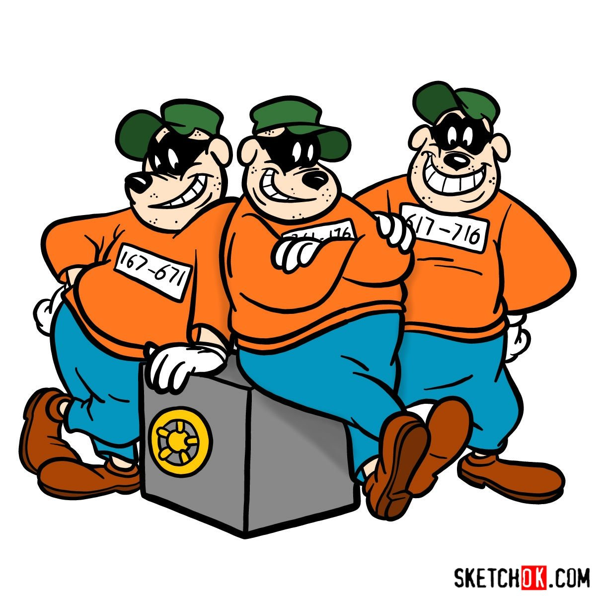 How to draw The Beagle Boys - coloring