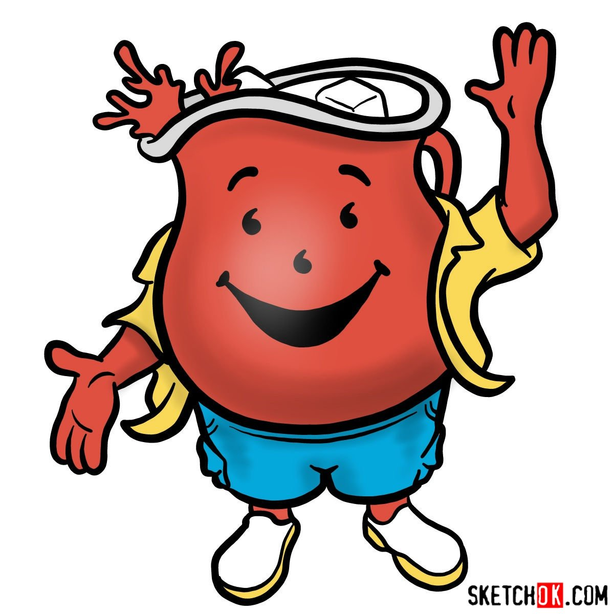 How to draw Kool-Aid Man - coloring