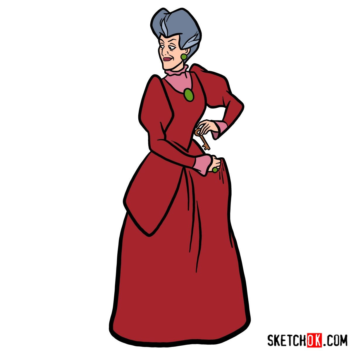 How to draw Lady Tremaine (Wicked Stepmother)