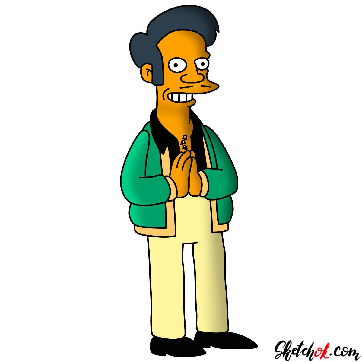 How to draw Apu from The Simpsons series