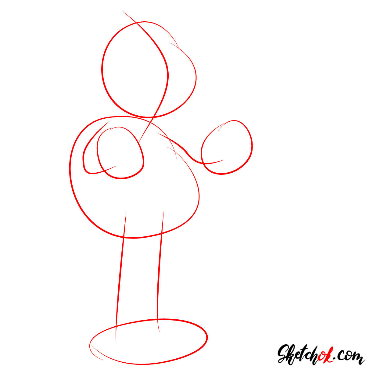 How to draw Grandpa Abraham Abe Simpson - step 01
