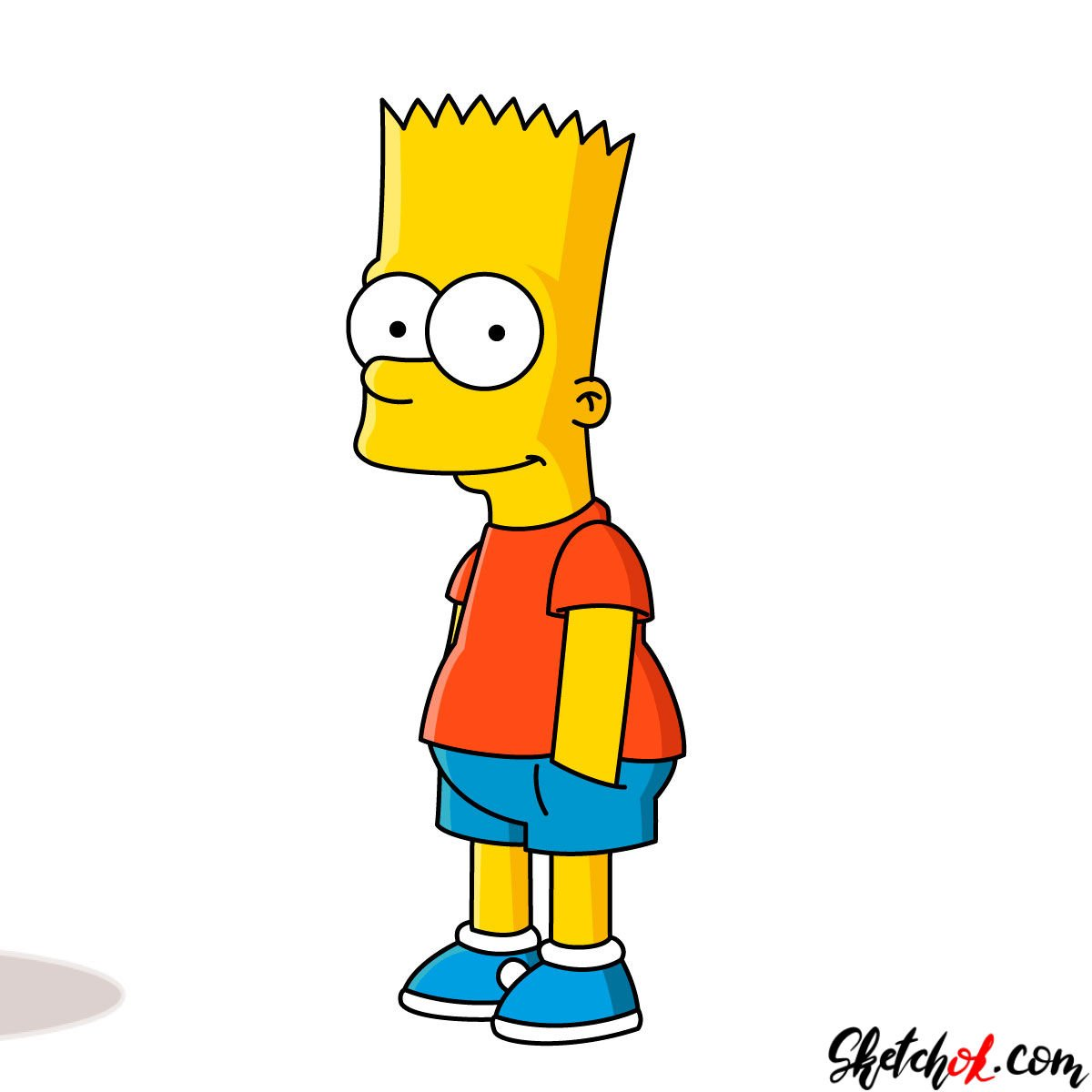 How to draw Bart Simpson - coloring