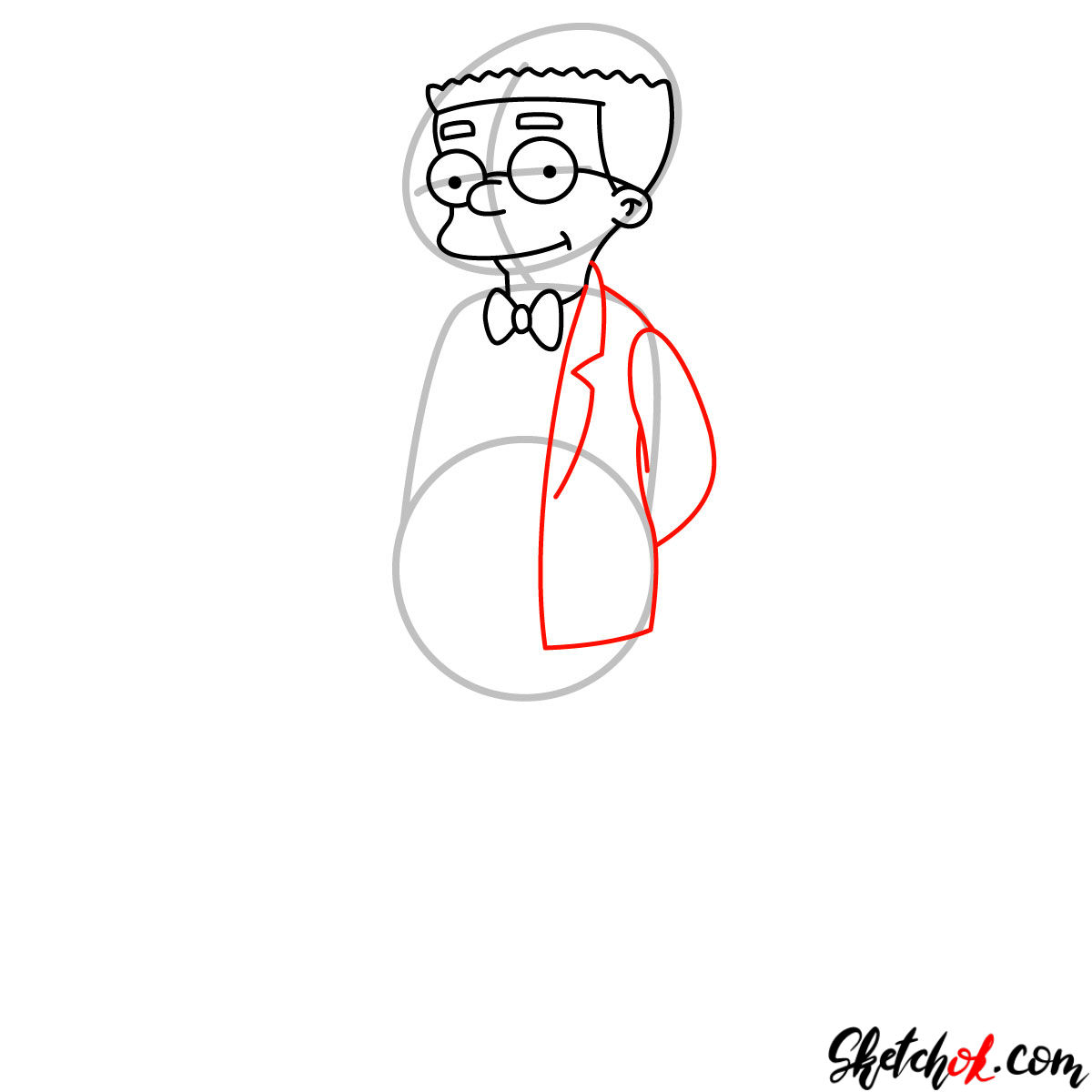 How to draw Waylon Smithers - step 06