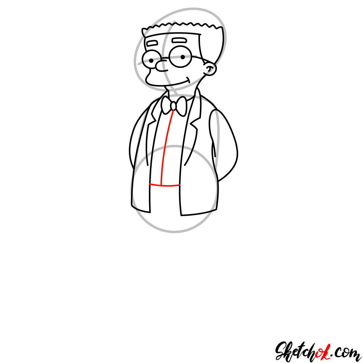 How to draw Waylon Smithers - step 08