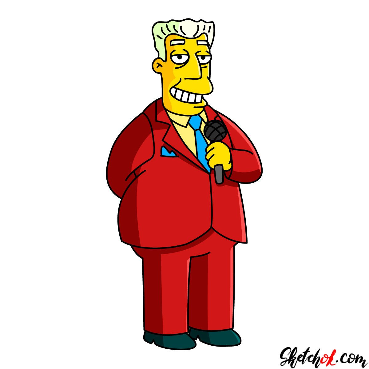 How to draw Kent Brockman - coloring