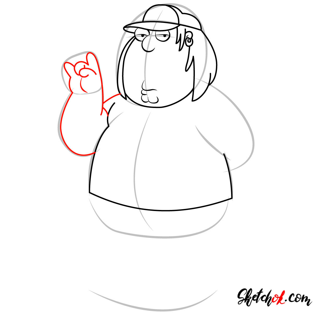 How to draw Chris Griffin - step 07