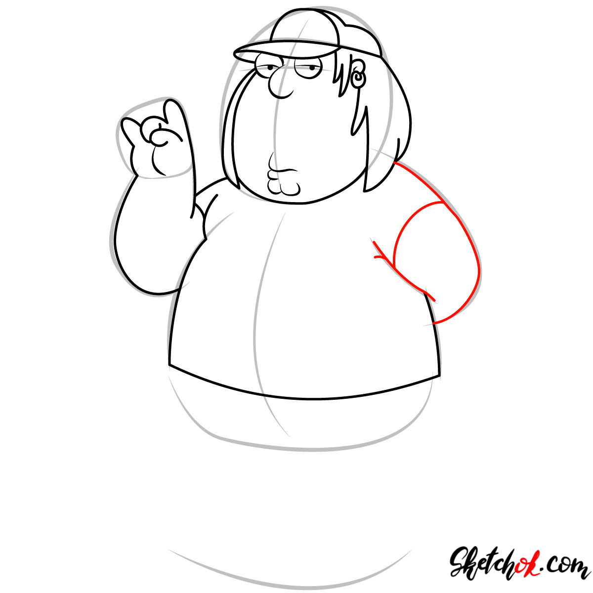How to draw Chris Griffin - step 08