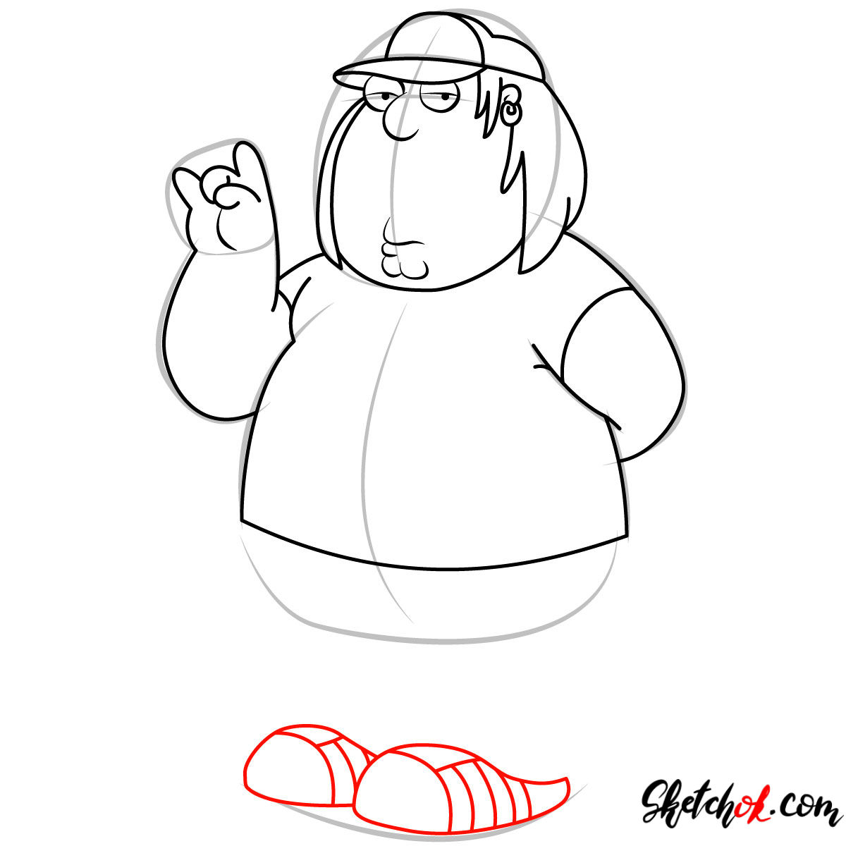 How to draw Chris Griffin - step 09