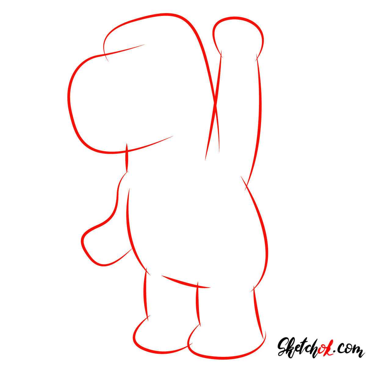 How to draw Brian Griffin - step 01