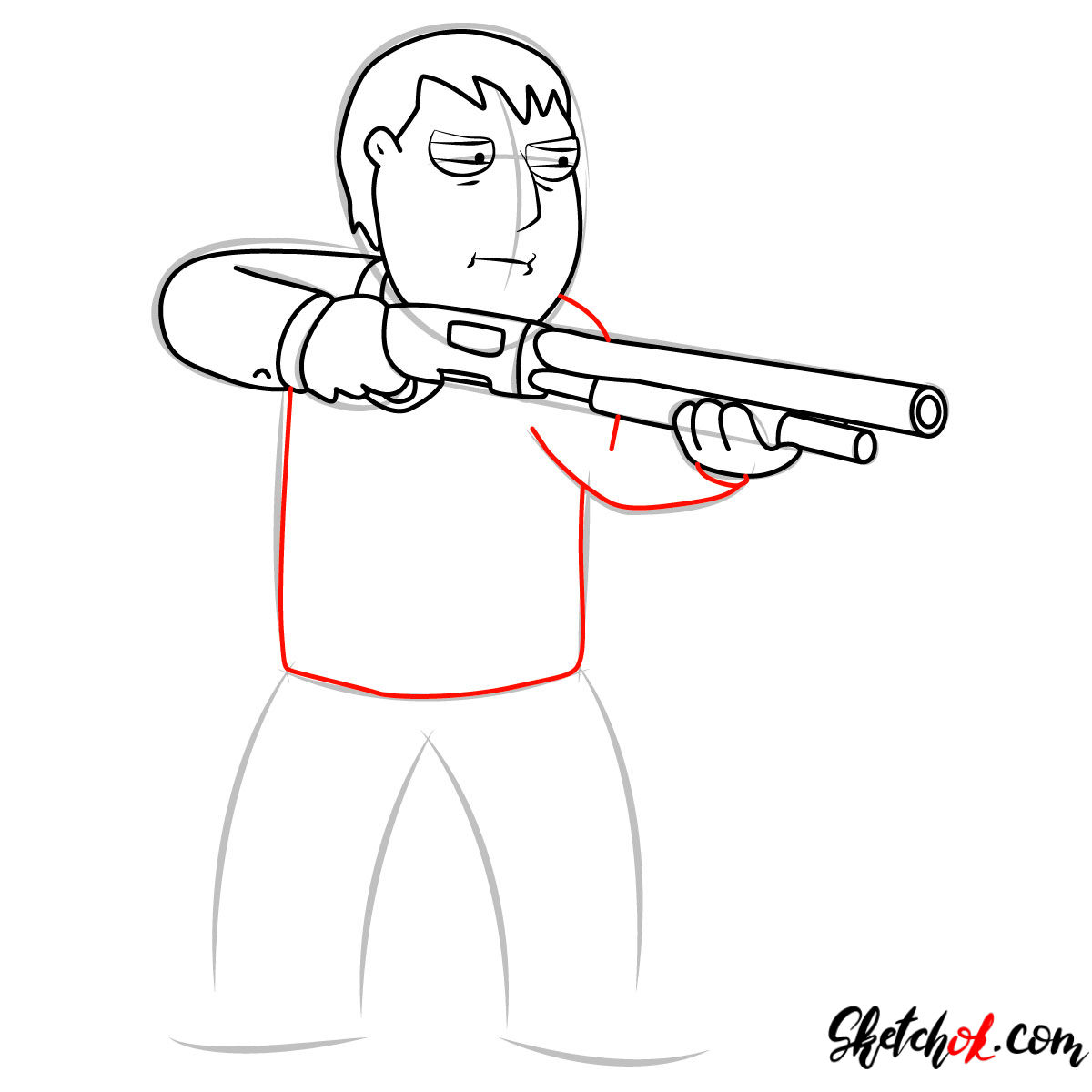 How to draw Mayor Adam West - step 08