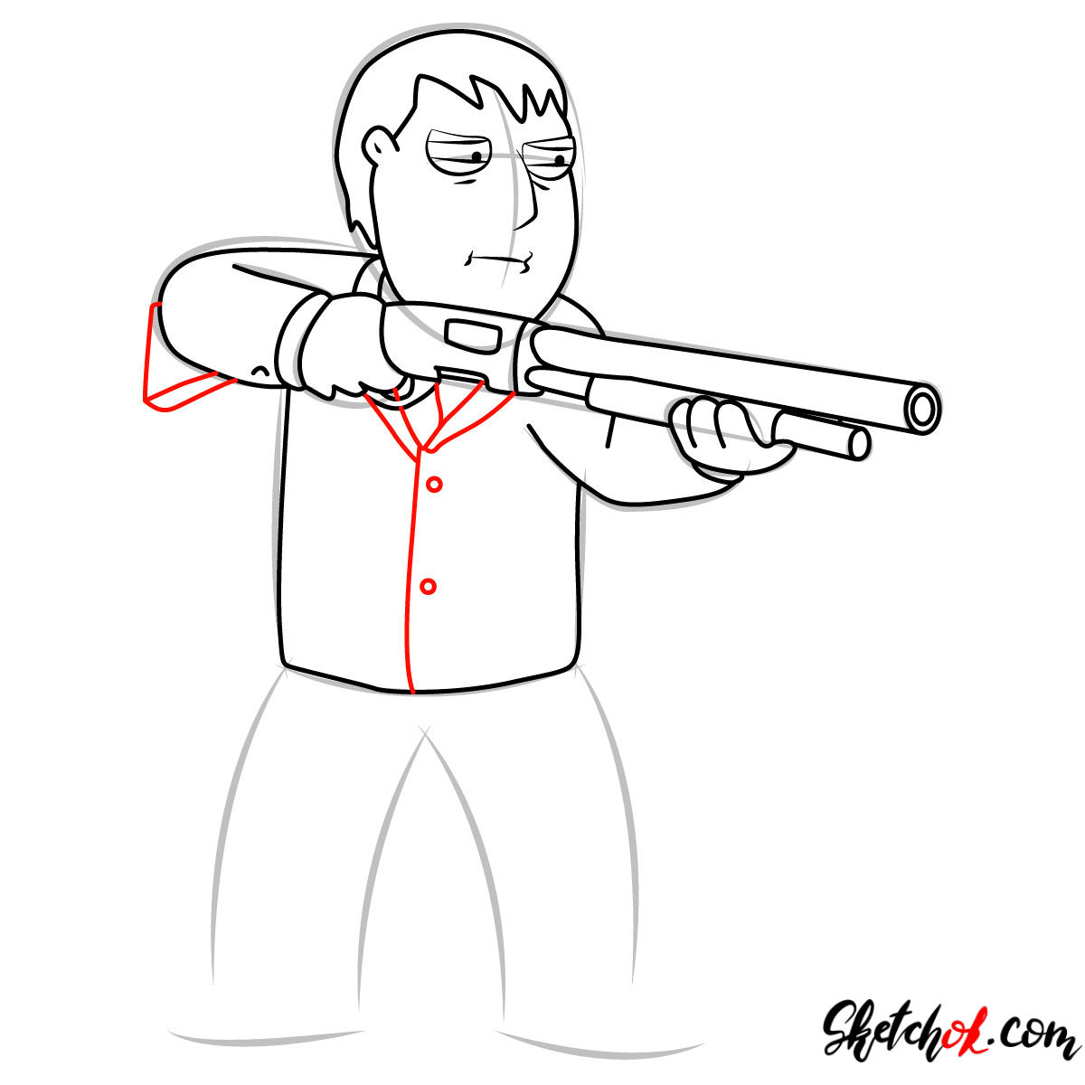 How to draw Mayor Adam West - step 09
