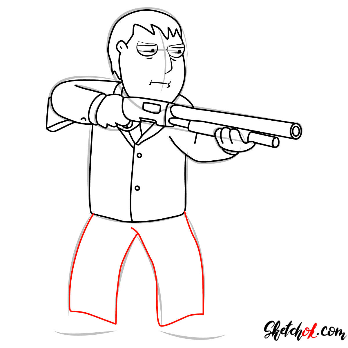How to draw Mayor Adam West - step 10
