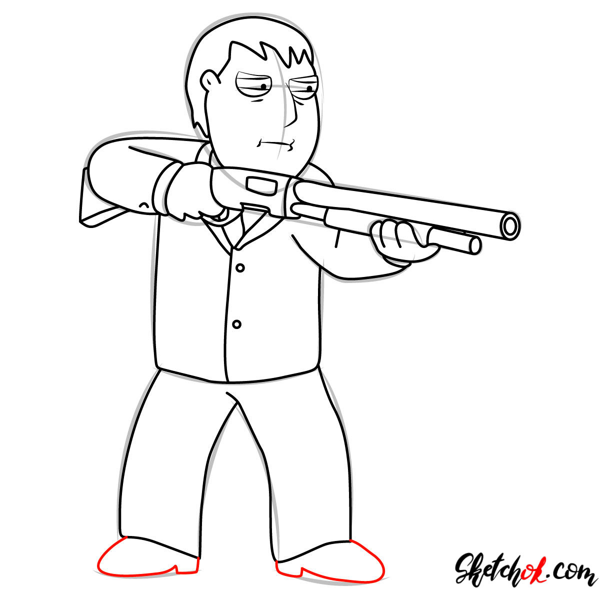 How to draw Mayor Adam West - step 11