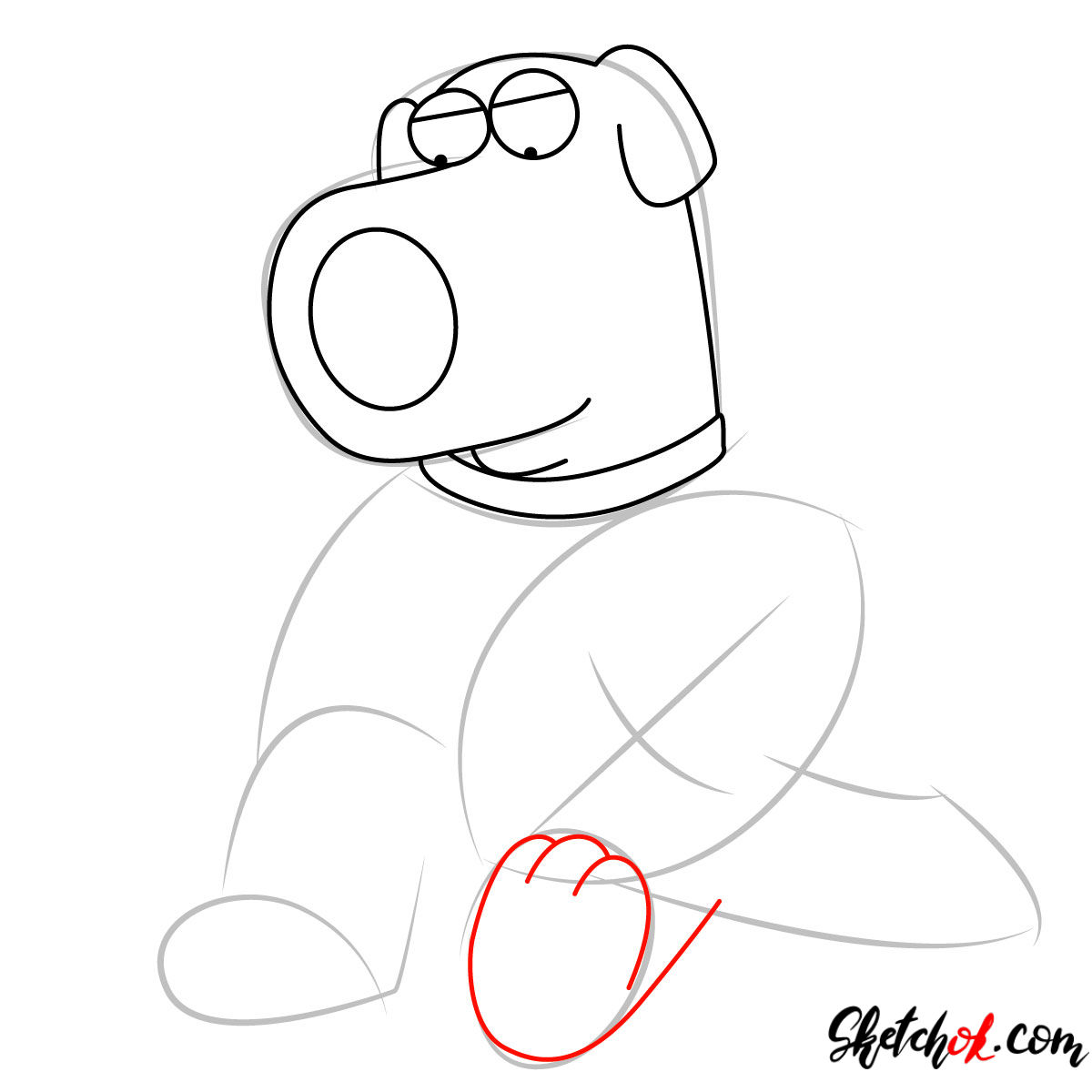 How to draw Stewie and Brian Griffin - step 04