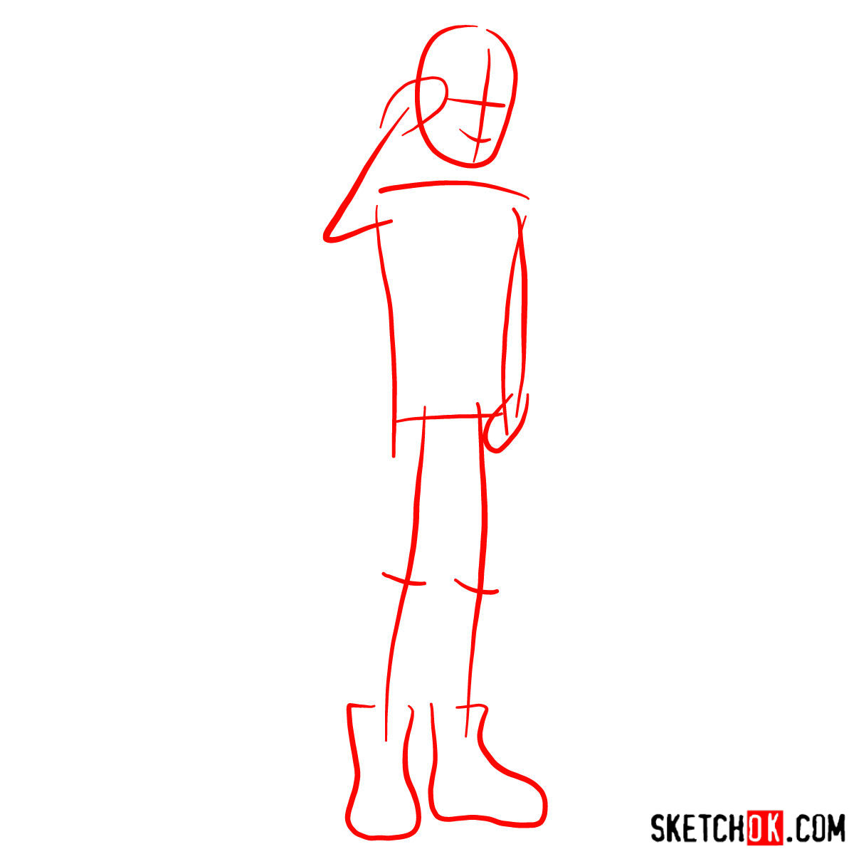 How to draw Dexter Charming - step 01