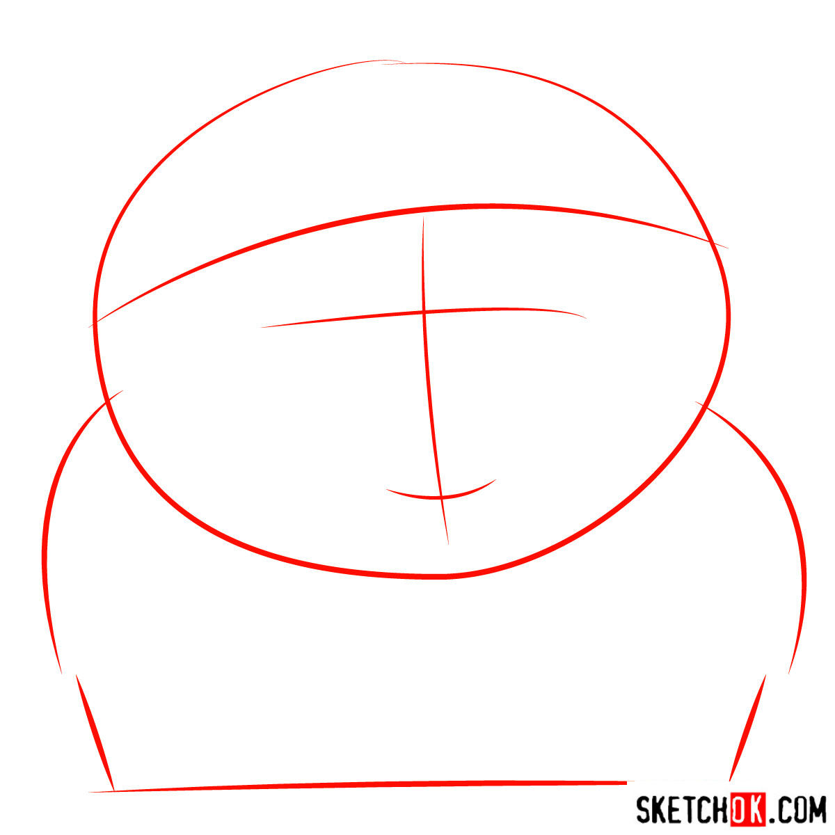 How to draw tricky Cartman from South Park - step 01
