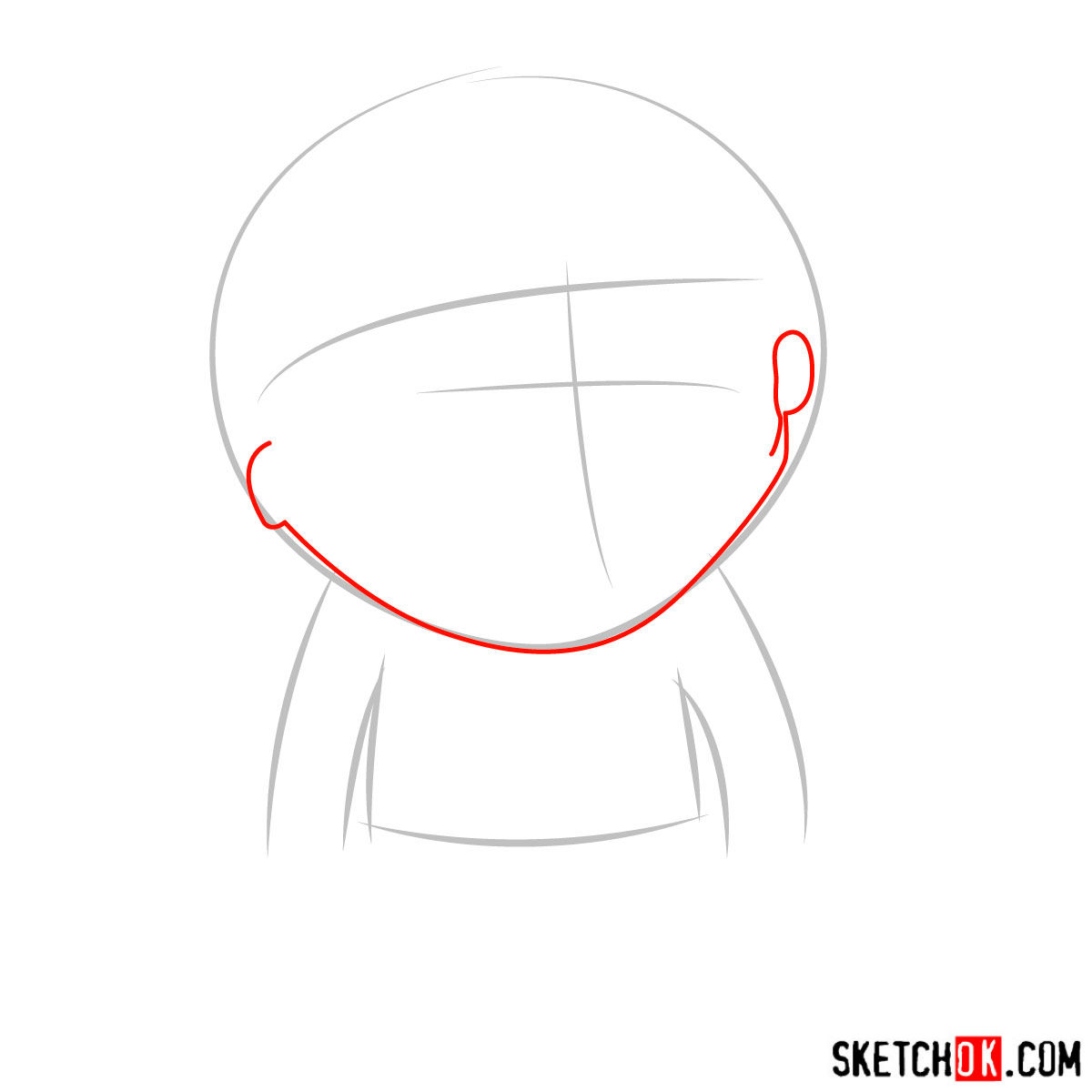 How to draw Jimmy Valmer - step 02