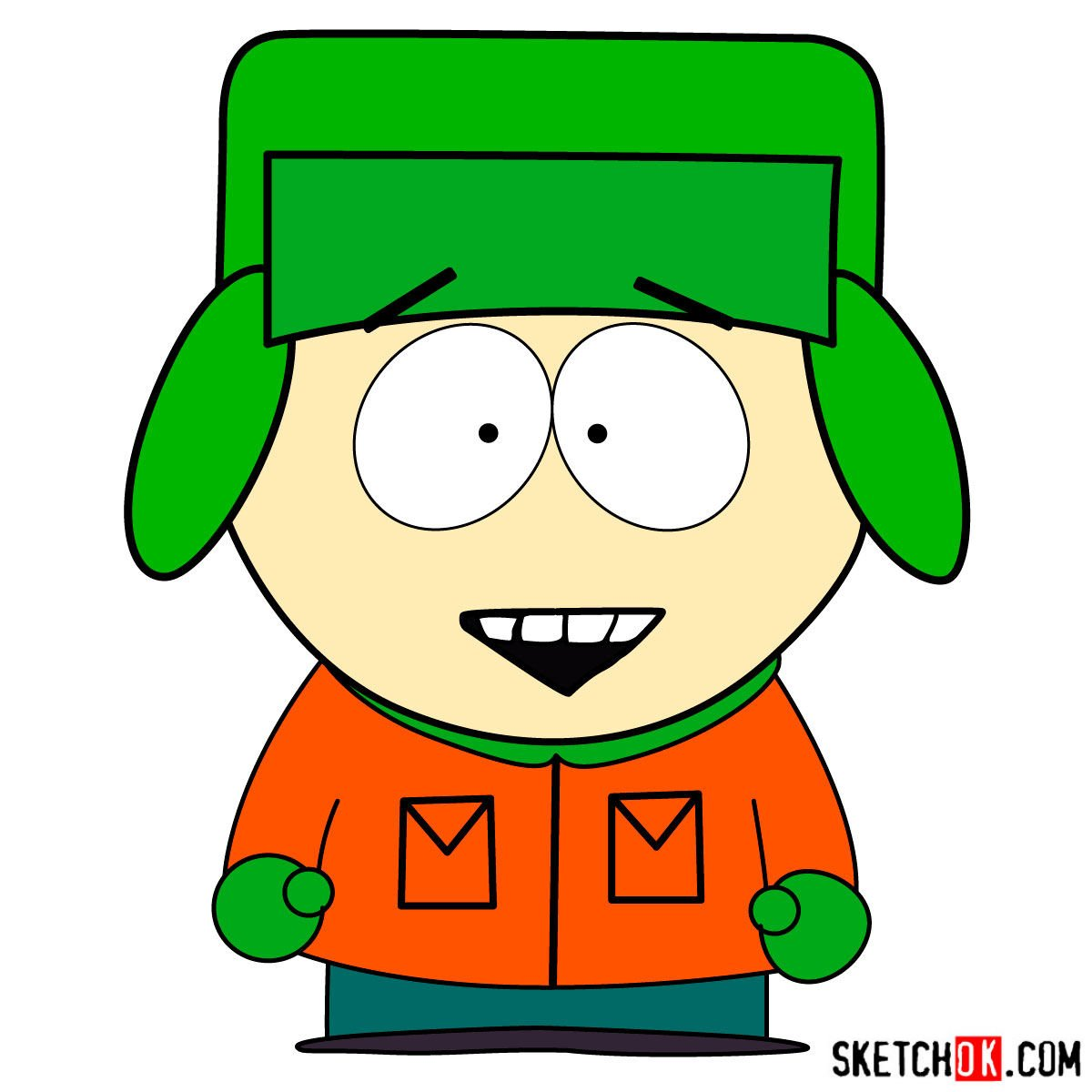 How to draw Kyle Broflovski - coloring