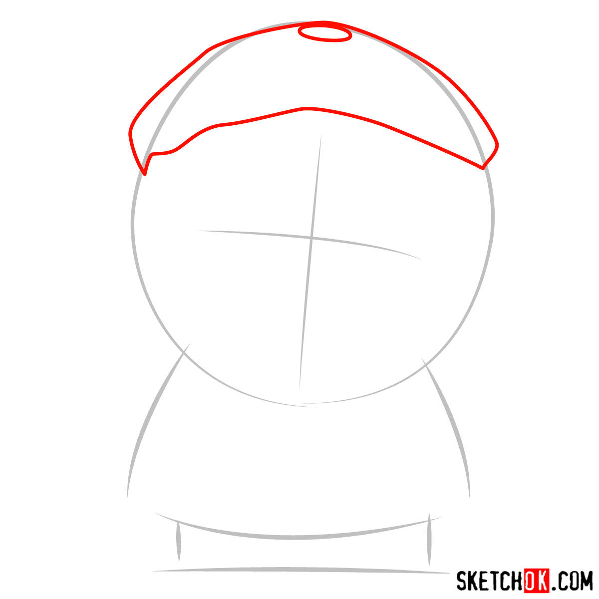 How to draw Wendy Testaburger - step 02