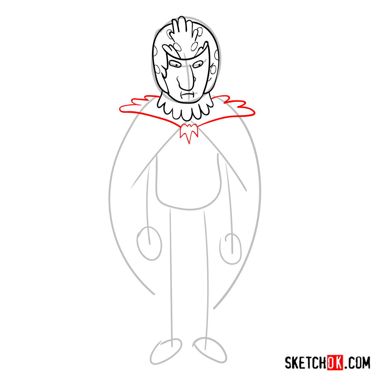 How to draw Birdperson from Rick and Morty series - step 06