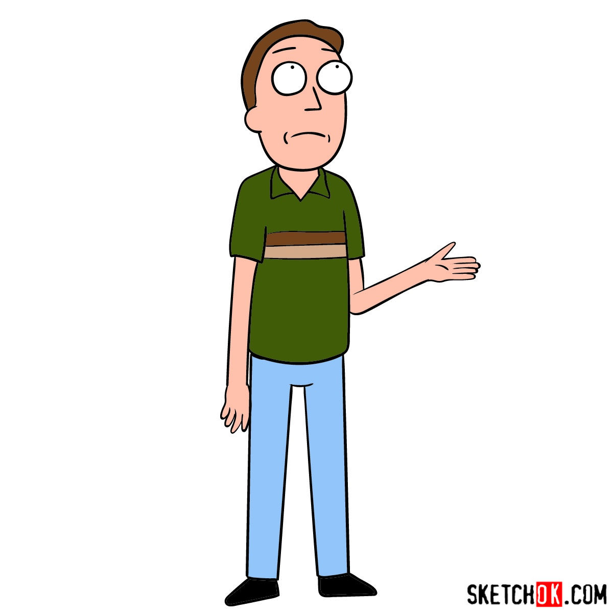 How to draw Jerry Smith, Morty's father