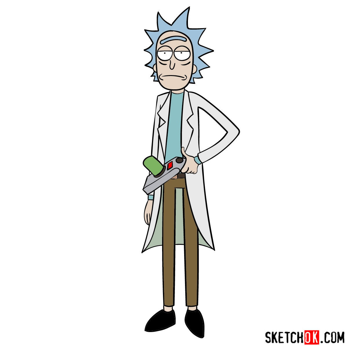 How to draw Rick Sanchez