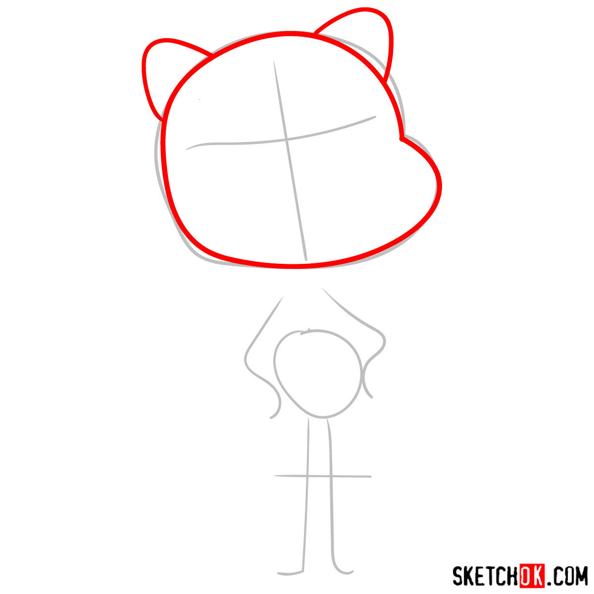 How to draw Nicole Watterson - step 02