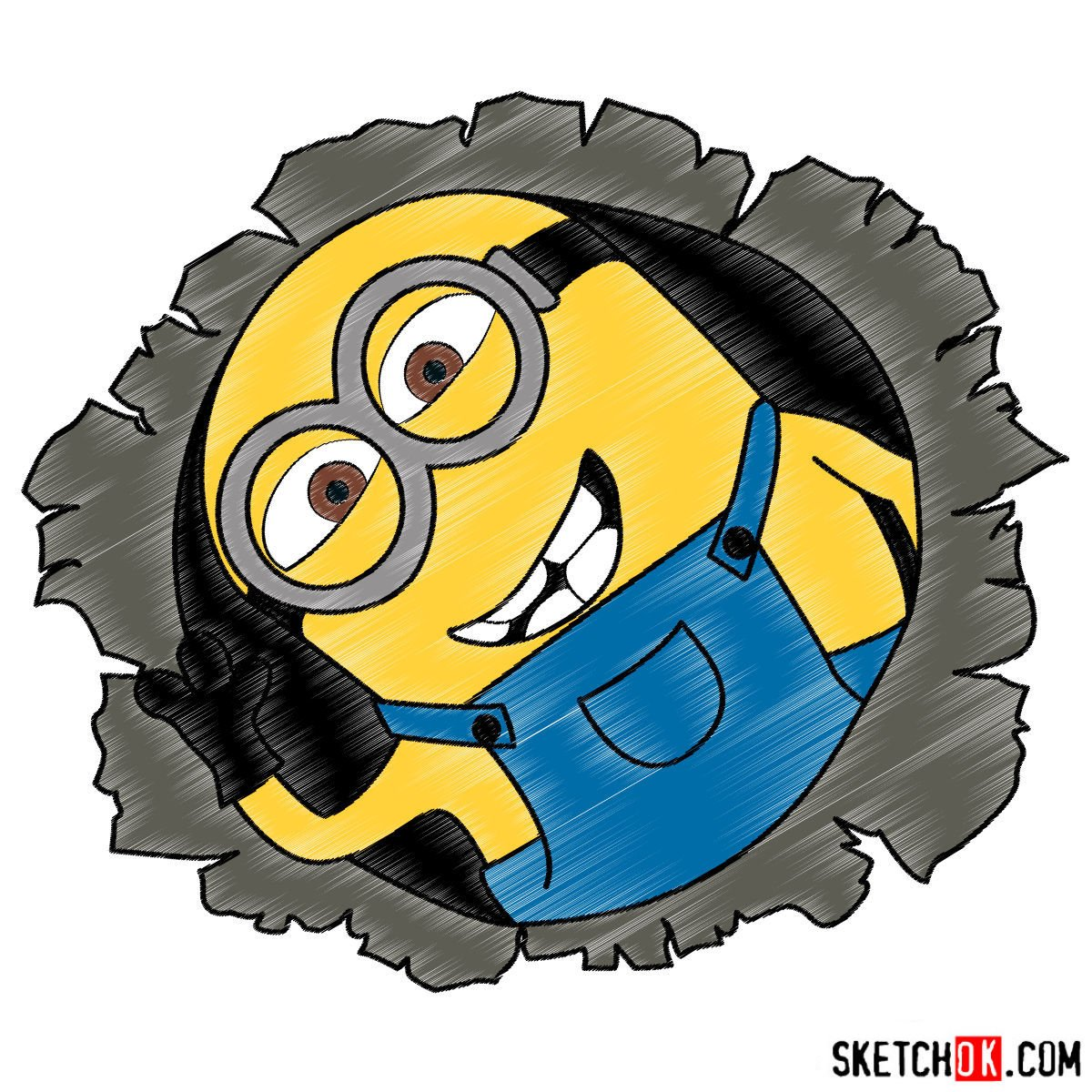 How to draw minion Dave - coloring