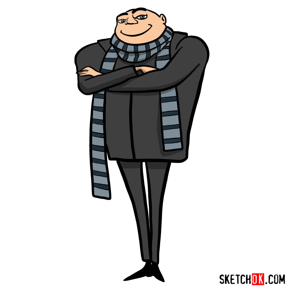 How to draw Felonius Gru - coloring