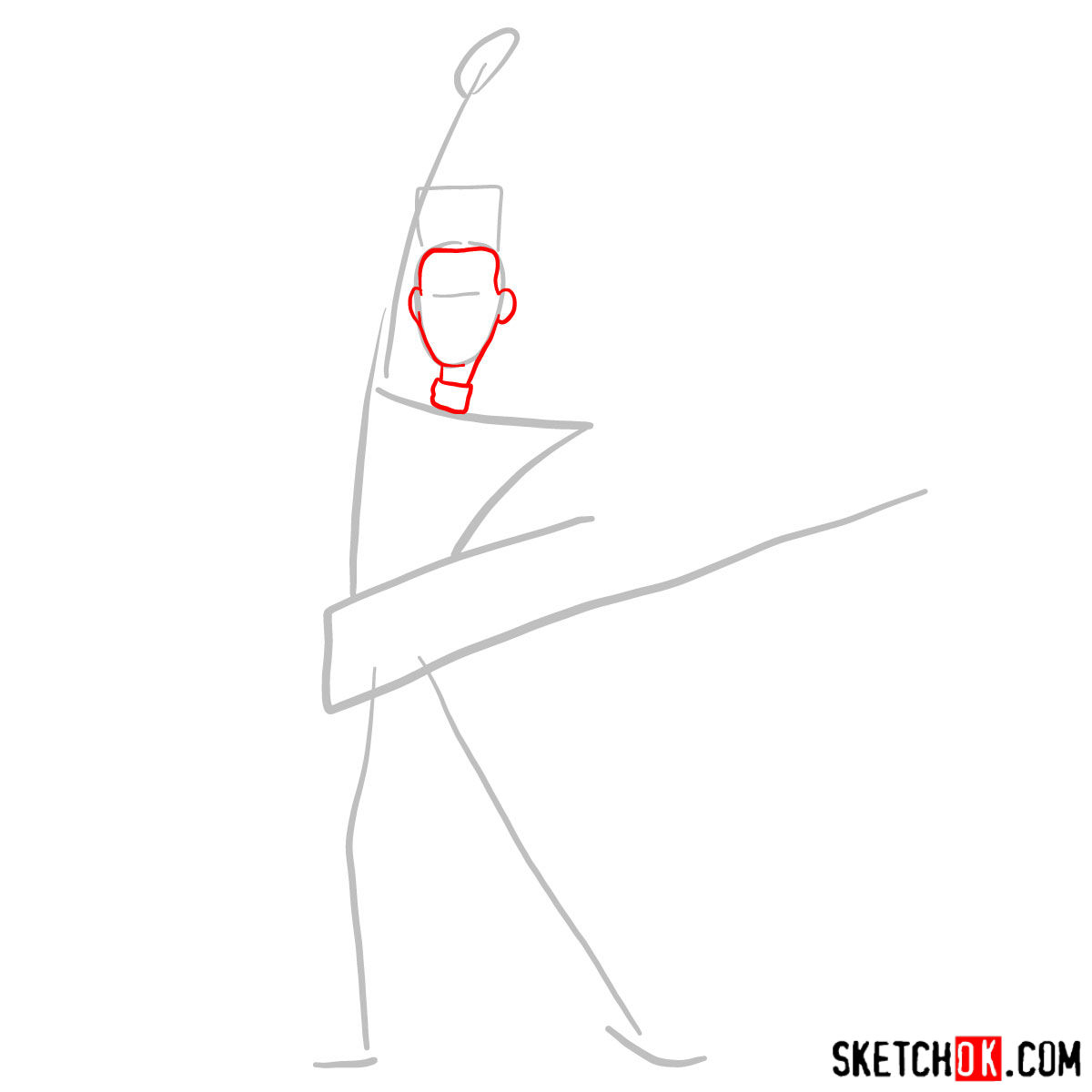 How to draw Balthazar Bratt - step 02