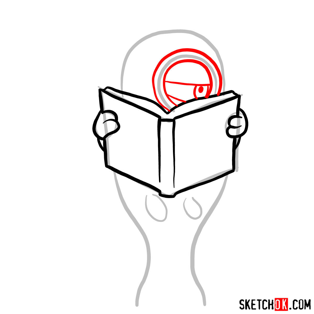 How to draw minion in the toilet reading a book - step 04