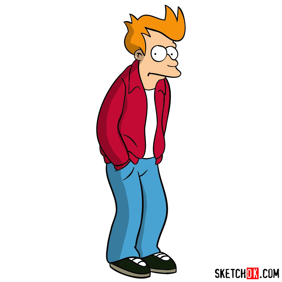 How to draw Philip J. Fry