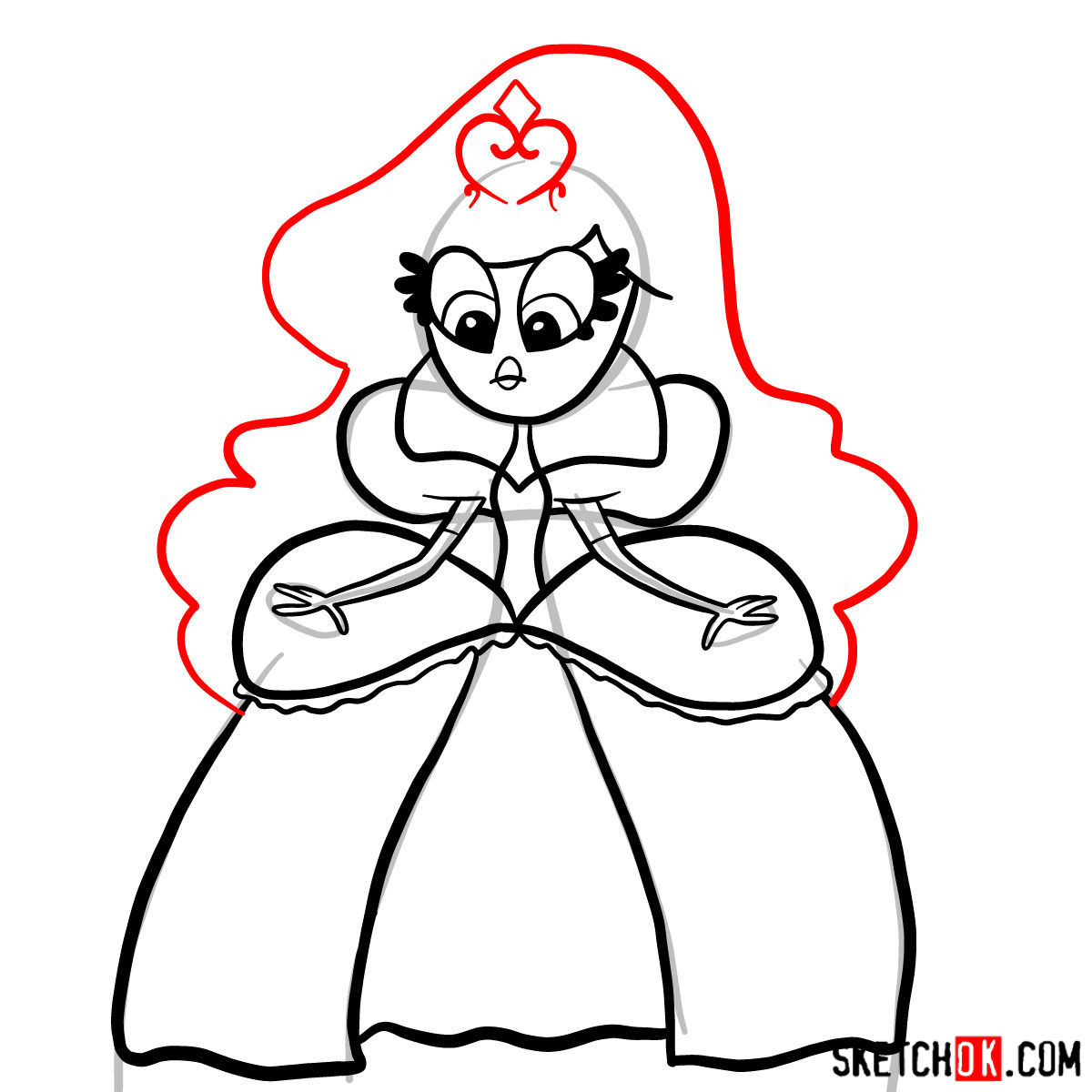 How to draw Princess Demurra - step 08