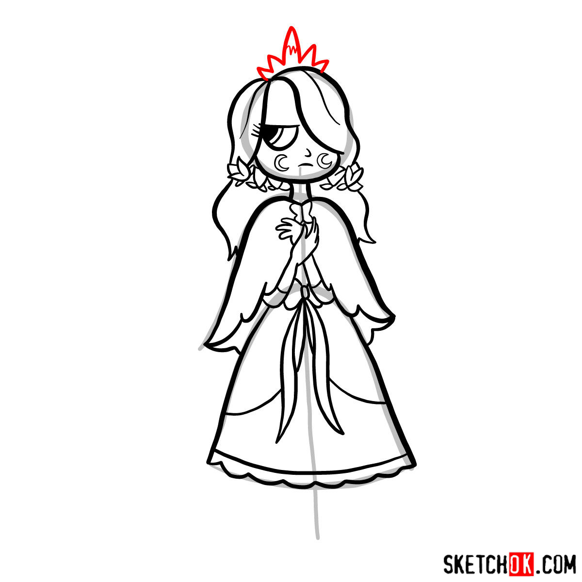 How to draw Celena Butterfly - step 12